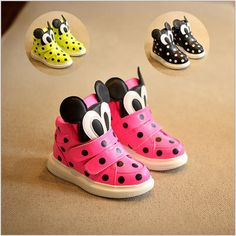2015 New kids shoes chaussure enfant boys and girls sneakers janoski sneakers with wheels Cute mouse High-top shoes Hot Sale