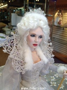 Diane Keeler One of a Kind Dolls At the Dollery. Snow Queen CostumeQueen