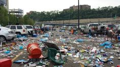 Damn sloppy women and their protest garbage... Oh wait that's just the aftermath of Kenny Chesney concert.