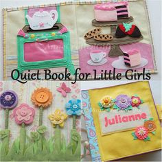 Quiet Book for Little Girls Busy Book Toddler by AnneCraftedGifts