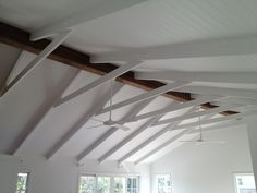 Raked Ceiling and Exposed Timber Beam but no colar tie required