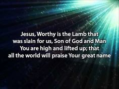Your Great Name - Natalie Grant (with lyrics) Jesus, worthy is the Lamb that was slain for us, Son of God and man. You are high and lifted up, all the world will praise Your Great Name! Praise And Worship Music, Worship Jesus, Worship Songs, Christian Videos, Christian Songs, Son Of God, The Great I Am, Great Names, Amazing Songs