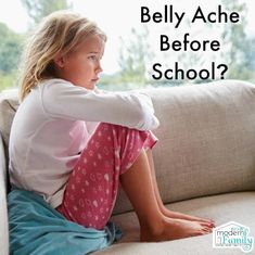 Do your kids complain about belly aches before school? Parenting Articles, Good Parenting, Parenting Hacks, My Stomach Hurts, It Hurts, Kids Stomach Ache, Love Your Family, Modern Family, Stomach Problems