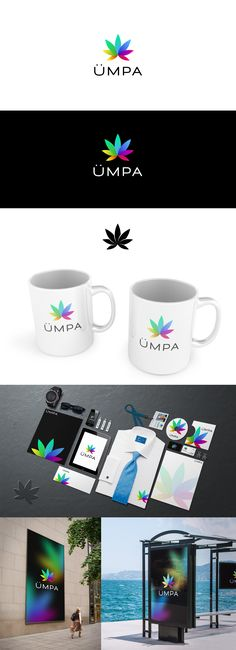 Umpa is a supplement line for medicinal marijuana. Client request was to create something colored so I created that with a stylized and simple marijuana leaf. Together with the logo I created an identity pack. #cannabis #medical #marijuana #logo #design #identity #brand #colorful #kreatank