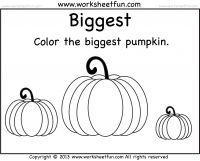 Biggest and Smallest Pumpkin – 2 Worksheets- Pumpkin Worksheet