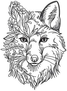 Fox in Flowers Urban Threads: Unique and Awesome Embroidery Designs Crewel Embroidery Kits, Paper Embroidery, Hand Embroidery Designs, Embroidery Patterns, Embroidery Supplies, Embroidery Needles, Flower Embroidery, Embroidery Tattoo, Embroidery Services
