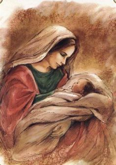 Mary and her child Jesus. Mary and her child Jesus. Blessed Mother Mary, Blessed Virgin Mary, Catholic Art, Religious Art, Religious Pictures, Mary And Jesus, Holy Mary, Madonna And Child, Baby Jesus