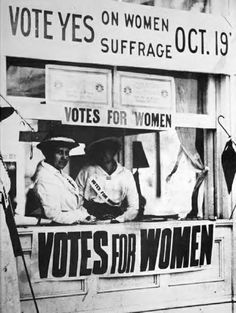 votes for women 1920   Women's Suffrage Movement