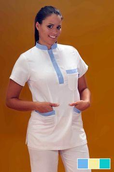 Tunique medicale 50% coton 50% polyester
