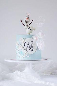 Elsa Birthday Cake, Frozen Themed Birthday Cake, Frozen Theme Cake, 2nd Birthday Party Themes, Themed Cakes, Carnival Birthday, Birthday Parties, Torte Frozen, Baby Mickey Mouse Cake