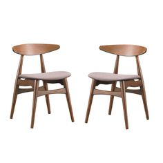 Set of 2 Flamingo Mid-Century Solid Wood Dining Chairs - Overstock Shopping - Great Deals on Baxton Studio Dining Chairs