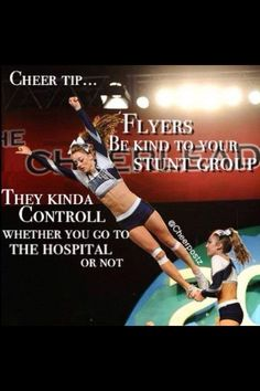 Cheer tip:) It's nice being able to do both though. I enjoy being base(: But I also enjoy the thrill of the skies.