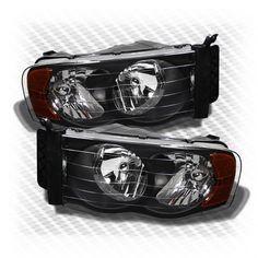 PAIR BLACK OE BUMPER FOG LIGHT LAMP BEZEL COVER SET FOR DODGE RAM DR//DH//D1//DC//DM