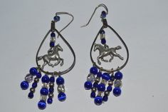 Beaded with Metal Hose in middle Blue Clear and by eventsmatters
