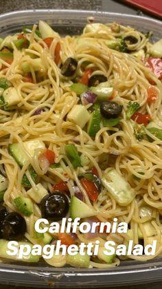 Easy Pasta Recipes, Spaghetti Recipes, Pasta Salad Recipes, Veggie Recipes, Vegetarian Recipes, Chicken Recipes, Cooking Recipes, Healthy Recipes, Dessert Recipes