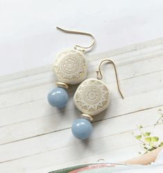 Diy Fashion, Fashion Jewelry, Diy Jewelry, Handmade Jewelry, Polymer Clay Creations, Beautiful Earrings, Diy And Crafts, Bling, Stud Earrings