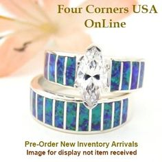 Four Corners USA Online - Size 5 1/2 Pre Order Purple Fire Opal Wedding Engagement Ring Set Ella Cowboy WS-1543, $240.00 (http://stores.fourcornersusaonline.com/size-5-1-2-pre-order-purple-fire-opal-wedding-engagement-ring-set-ella-cowboy-ws-1543/)