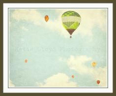 Hot Air Balloons in Flight  16x20 Whimsical by KatieLloydPhoto, $42.00
