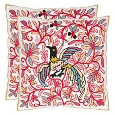 Safavieh Matlock 18 In. Cream/Red Decorative Pillows - Set of 2