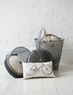 Bike Wheel Cushion - Natural by Rose & Grey