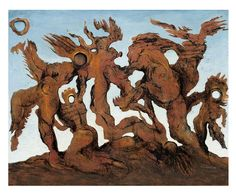Beltracchi fake in the style of Max Ernst, titled La Horde (1927), oil on linen, 64 x 80 cm. (Sammlung Würth, © VBK Wien 2010)