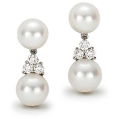 Tiffany Aria Drop Earrings (19.685 VEF) ❤ liked on Polyvore featuring jewelry, earrings, accessories, pearls, jewels, pearl earring set, tiffany & co., round drop earrings, round earrings and pearl earrings jewellery