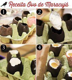 ovo recheado de mousse de maracujá, ovo de páscoa, sobremesa de páscoa, easter egg, diy, repice, easy recipe, chocolate