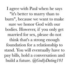 "1,599 Likes, 17 Comments - Godly Dating 101 (@godlydating101) on Instagram: ""Never settle because you want to have ""guilt free sex"". Marriage and love is more than just…"""