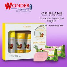 Buy #Oriflame Pure Nature Tropical Fruit Facial Kit & Nacture Secret Soap Bar   Wondermegamart.com