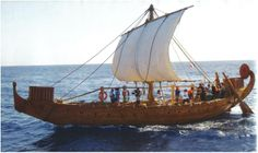Ships of sea peoples. historical