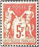 """1925 - """"Sage"""". Gruppo allegorico (Pace e Commercio) - 5 F."""
