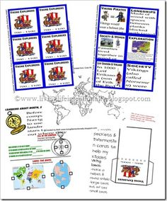 FREE viking worksheets and early explorers lapbook