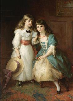 Edward Hughes (British, 1832-1908). Рождественские поздравления