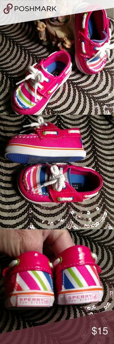 Selling this Sperry Top Sider Baby Girl Crib Shoes 2 on Poshmark! My username is: queenybs. #shopmycloset #poshmark #fashion #shopping #style #forsale #Sperry Top-Sider #Other