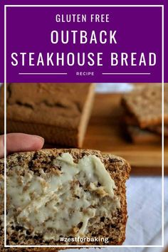 This tasty gluten free outback steakhouse bread is so good, you'll never guess it's gluten free! So tender and melt-in-your-mouth delicious! #zestforbaking #glutenfreebread #glutenfreerecipes #glutenfreebaking Gluten Free Quick Bread, Wheat Free Bread, Gluten Free Baking, Gluten Free Recipes, Bread Recipes, Steakhouse Bread Recipe, Outback Steakhouse, Yeast Bread, Bread Baking