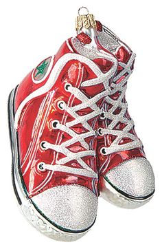 new arrivals 46805 1157c Nordstrom at Home High Top Sneakers Ornament available at  Nordstrom Glass  Christmas Tree Ornaments,