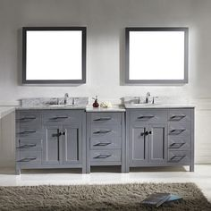 5 double sink vanity. shop for ariel stafford 85-inch double sink espresso vanity set with center medicine cabinet. get free delivery at overstock.com - your online furn\u2026 5