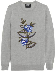 Markus Lupfer Embellished Merino Wool Sweater
