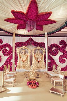 South Indian Ceremony with Elegant Pink Floral Décor | Studio AvantGarda.