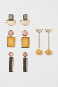 Metal and plastic earrings in various designs and sizes. Length from 1 to 3 in. Affordable Jewelry, Cheap Jewelry, Craft Jewelry, Handmade Jewelry, Plastic Earrings, Gold Earrings, Drop Earrings, White Gold Jewelry, Gold Jewellery