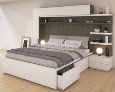 Dormitorios a medida, suites, muebles modernos para dormitorios, juegos de dormitorios Wardrobe Design Bedroom, Bedroom Bed Design, Bedroom Furniture Design, Bedroom Wardrobe, Modern Bedroom Design, Bed Furniture, Home Bedroom, Modern Wardrobe, Bedroom Sets