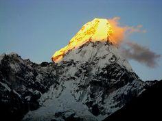 Magnificent Ama Dablam, the burning peak. #Himalayas