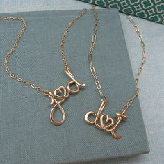 Personalized, husband and wife, Initials Necklace
