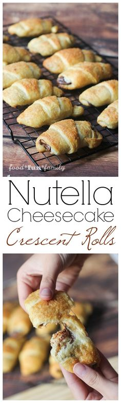 Nutella-cheesecake crescent rolls: a delicious and easy holiday recipe. These sweet treats are crowd pleasers and sure to disappear fast, but amazingly quick and easy to make! #ad #ItsBakingSeason @pillsbury