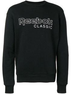 Reebok Classic Logo Sweatshirt In Black Reebok Clothes, Classic Outfits, Black Cotton, Size Clothing, Baby Design, Organic Cotton, Shop Now, Women Wear, Mens Fashion