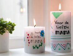 Decorating candles - Your own drawing on a candle for Mother& Day! - Decorating candles – Your own drawing on a candle for Mother& Day! Diy Candles, Pillar Candles, Candle Jars, Decorating Candles, Diy For Kids, Crafts For Kids, Evening Garden Parties, Soap Maker, Fall Scents