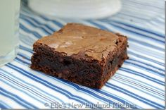 Once you start making brownies from scratch you will never make brownies from a mix again.