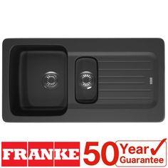 Franke Aveta 1.5 Bowl Black Tectonite Reversible Kitchen Sink & Waste