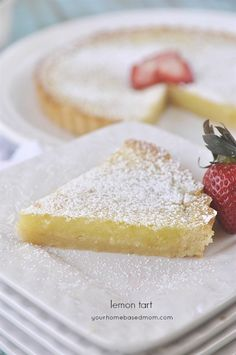 Light  and Lovely  Lemon Tart - perfect for Easter dinner!