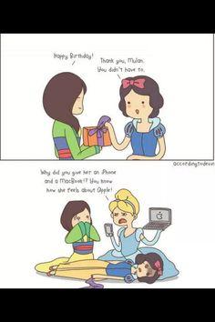 Snow white | mulan | disney | funny | humor